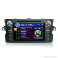7inch touch sreen car dvd player with GPS Navigation for TOYOTA with radio bluetooth ipod player video