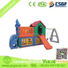 latest design indoor playground outdoor plastic doll house kids swing
