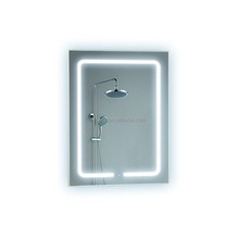 anti steam IP44 Touched Screen Illuminated Backlit bath led Mirror with clock