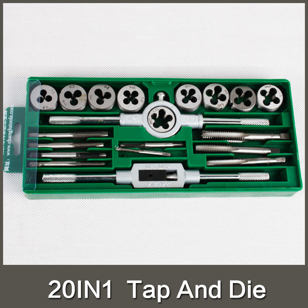 20PCS Metric Tap and Die Set M3 M4 M5 M6 M7 M8 M9 <strong>M10</strong> M12