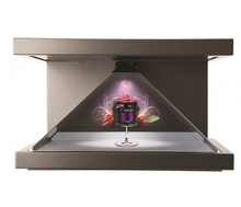 "21.5"" indoor high resolution 1080p pyramid 3d hologram showcase 3d holo projector"