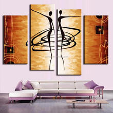 100% handpainted famous colorful paintings abstract paintings of women 4pieces worldwide of sex pictures designer home decor