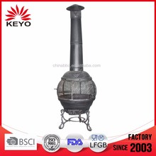 metal cast iron chiminea fire pit