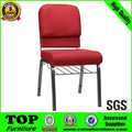 Look nice good price hotel furniture stackable iron church chair CY-9021B