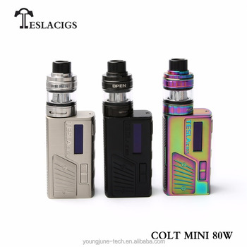 New vapor product Teslacigs Colt Mini 80w kit with H8 mini atomizer