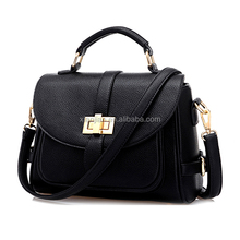 Hot Classic European American OL Retro Turn-lock Clasp Women Tote Crossbody Sling Bag (XJBYT5234)
