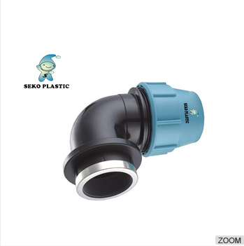 All size available top supplier hdpe compression fittings pp/pe female thread elbow for pe water pipe