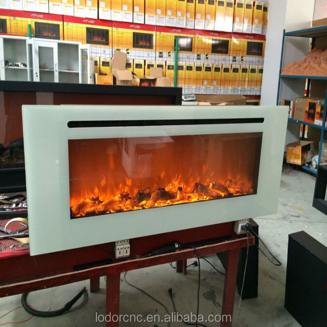 white wall mounted fake flame effect electric fireplaces