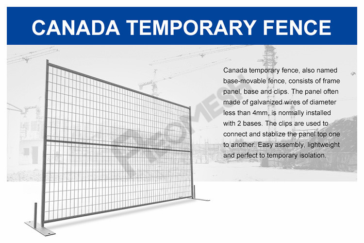 Made in Guangzhou Professional Factory Canada Temporary Fence