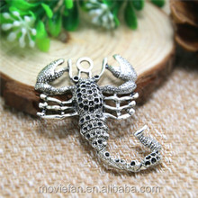 Huge Scorpion Charms Antique Tibetan Silver Tone Scorpion Pendants Charms Jewelry Making 51x39mm