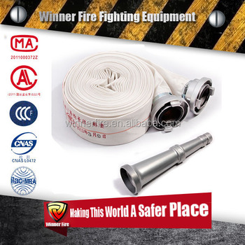 High Pressure PVC/PU/EPDM/Rubber Duraline Fire hose Set with certifications