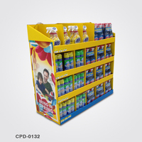 Manufacture floor advertising point of sale quarter pallet display for marketing cleaners