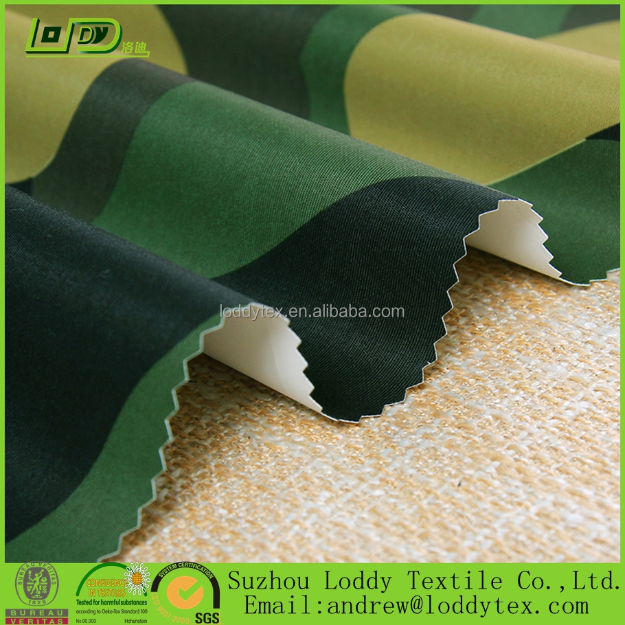 228T printed waterproof polyester milky breathable coated taslan fabric/windproof outdoor sportswear fabric