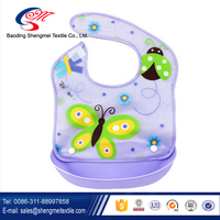 Lovely Washable Silicone Baby Bibs Soft Feeding Baby Kids Bibs