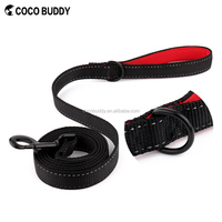 Medium or Strong Small Dogs - Lightweight Zinc alloy Black D-ring&Hook Retractable Soft Nylon PET Dog Leash