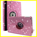 Rotating Leather Case for iPad Air Sparkly Glitter Bling Diamond Crystal Flip Leather Cases for iPad Smart Cover New Cheap