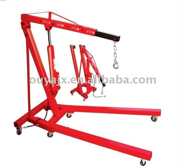 2 Ton hydraulic foldable engine shop &workshop crane