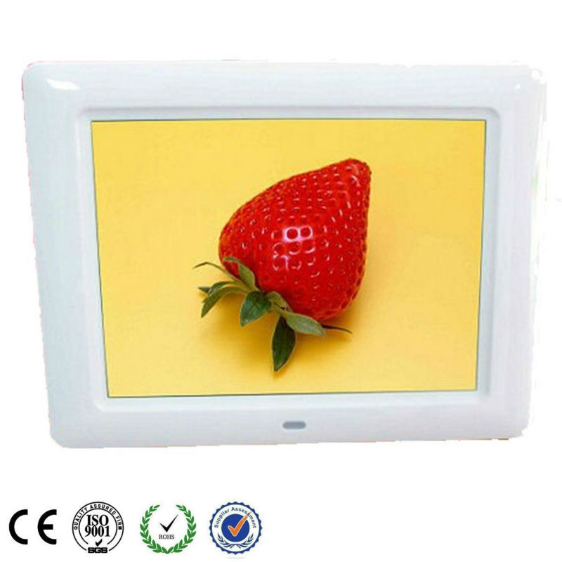 "ABS Shell: 8"" LCD Digital Photo Screen for Advertising"