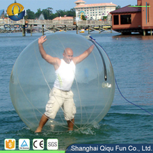 PVC or TPU human size floating inflatable water walking balls for sale, water bouncing ball