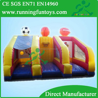 Commercial Inflatable rugby toss game, basketball shooting, inflatable football goal 3 N 1 Sports Inflatable Game