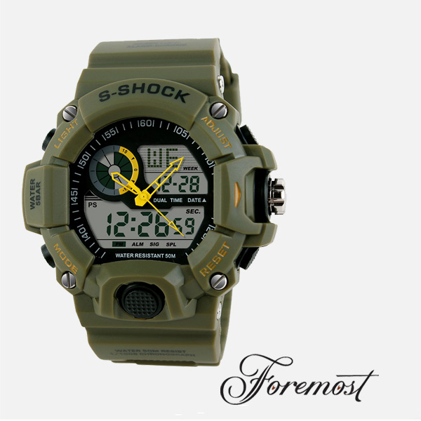 China Men Sports Smart Led Shock Military Army Swim Diving Waterproof Chronograph Analog Digital Watch,Relogio Masculino