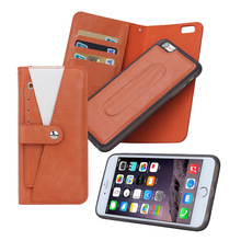 Newest classical design flip leather case for iphone 6,cheap leather phone case