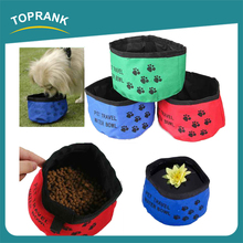 TOPRANK Collapsible Dog Bowl Footprint Travel Portable Water Bowl, Folding Travel Dog Pet Food Water Bowl