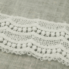 Fancy White Cotton Embroidery Lace Curtain Tape