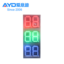 Japan 12inch 4 Digits Custom 7 Segment Electronics Regular Diesel Wireless Wifi Gas Station LED Sign Board Price