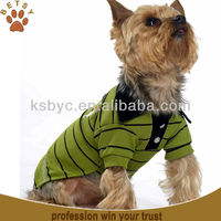 Green stripe Pet polo shirt dog clothes