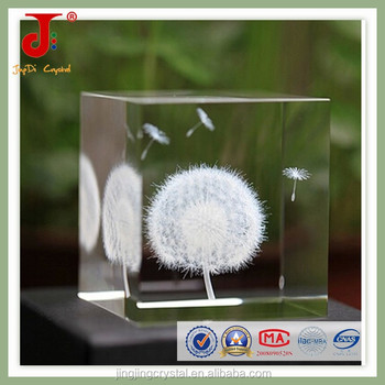 Famous square 3d glass cube laser engraver & 3d laser crystal glass cube