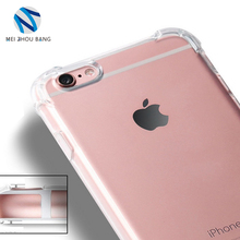 Transparent Case For iphone 7 Ultra Thin Clear Soft TPU Silicone Cases Cover corners air bag anti-drop Case Coque Fundas