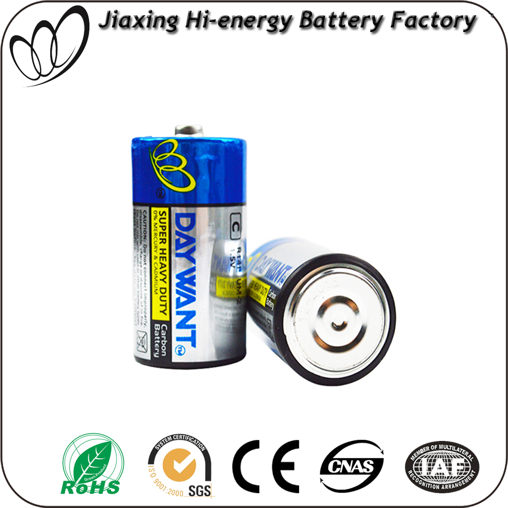 R14 C Size Super Dry Battery For Electronic Products for torches