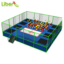 With Foam Pit Trampoline Mat Cheap Square Gymnastics Trampolines