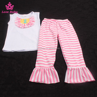 Sleeveless Top With Long Stripy pants 2pcs Clothing set for newborns kids old fashioned clothes OF6010610
