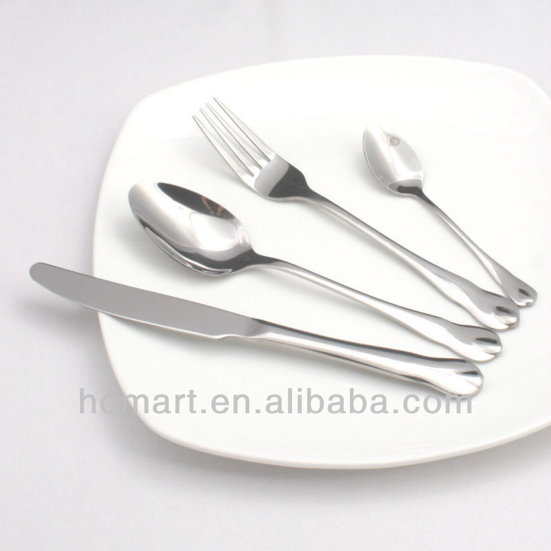 new design hotel stainless steel dinner set cheap flatware