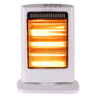 Portable Electric Oscillating Halogen Heater 1200W 3 Halogen Bars