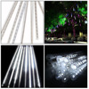 Icicle Snow Fall String LED Cascading Lights for Wedding, Party, Holiday, Xmas Tree Decoration (White)