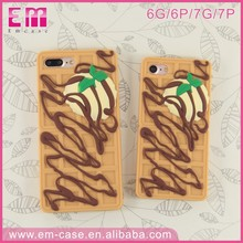 Shenzhen Wholesale Custom Printing 3D Hybrid Silicon Cartoon Food Mobile Phone Case For iPhone 6 6S Plus