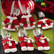 6 Pc. Santa Suit Christmas Silverware, tableware, dinnerware Holders