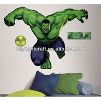 1812 vinyl home decorative green giant waterproof marvel house sticker