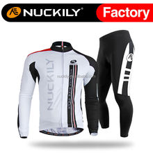 Nuckily polyester comfortable cycling jersey and tight set for men