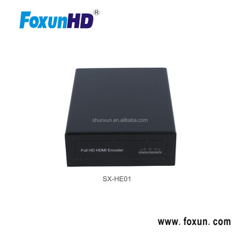 Foxun H.264 compliant HDMI encoder for IPTV support HTTP UDP RTSP RTMP RTP ONVIF protocol 1080p HDMI video encoder