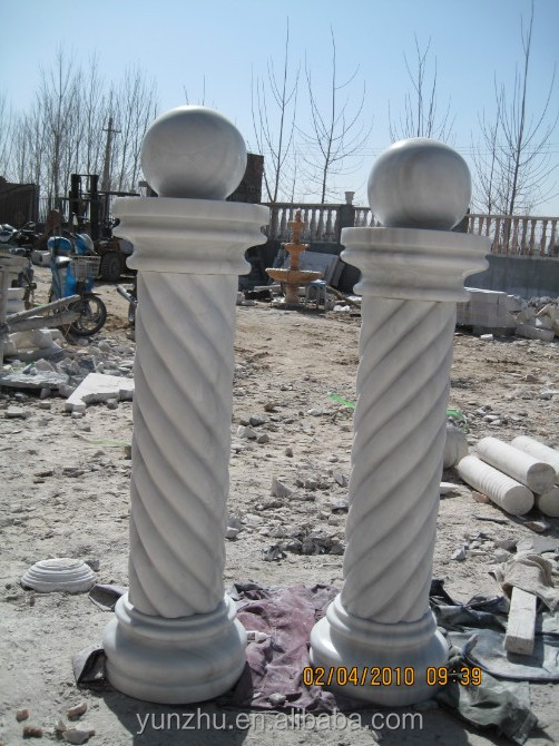 Wedding decoration hand carving marble pillars,marble roman column