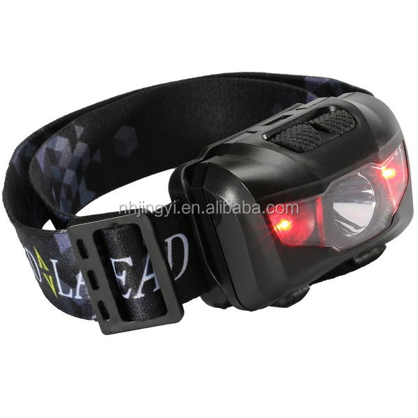 high power 3W usb camping hiking fishing warning red light rechargeable led headlamp
