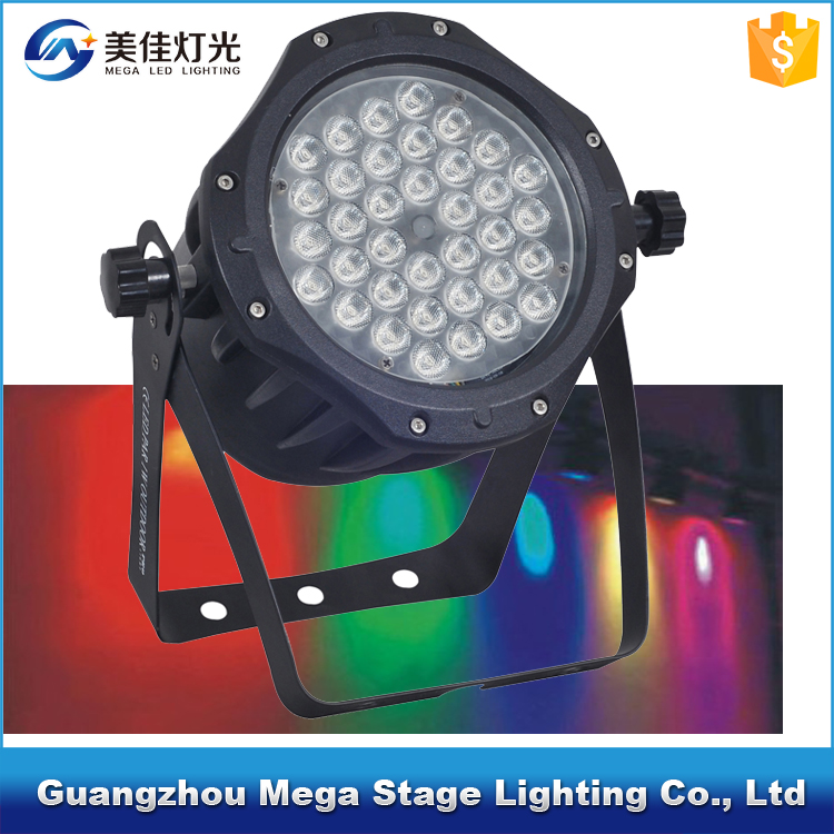 waterproof stage light with dmx control 36x1w rgb led par light