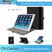 Pu Leather Case For Ipad Mini 4, For Ipad Mini 4 Case shell Rotating Stand Leather Case For Tablet Pc