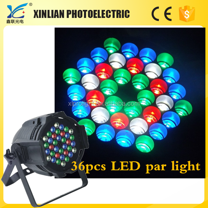 36pcs full color led christmas stage par light led dj wash lights