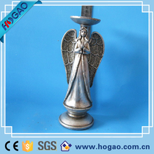 Polyresin electroplate angel figurine candle holder for home decor