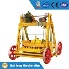 QMY4-45 mobile simple block making machine, concrete hollow block machine